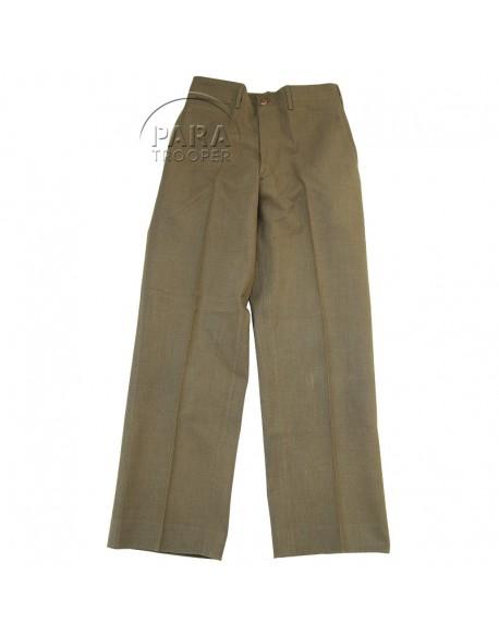 Trousers, Wool, Serge, OD, Light shade, 28x33, 1941