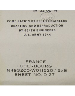 Photo-Map, Cherbourg D-27, 1944