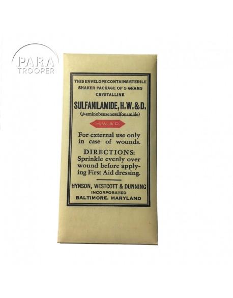 Packet, Sulfanilamide powder, H.W.&D.
