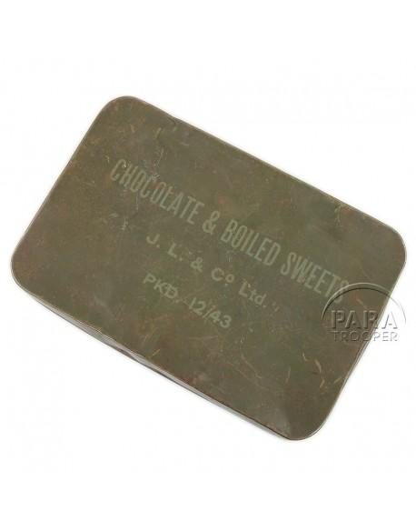Boite de chocolats et bonbons, 1943