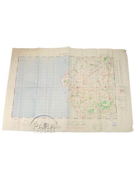 Map, Normandy, Les Pieux, 1943