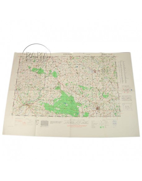 Carte Normandie, Domfront, 30e DI, 2nd AD, 1944
