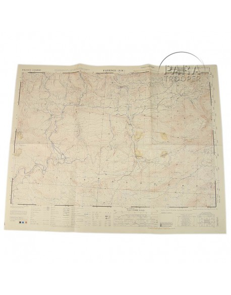 Carte de Fayence N.W. (Sud de la France), 1944, 517th PRCT