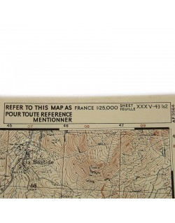 Map, Fayence Northen West (South of France), 1944