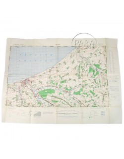Carte Normandie, Dieppe, 1943