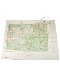 Carte de Puget - Theniers, 1944