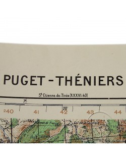 Map, Puget - Theniers, 1944