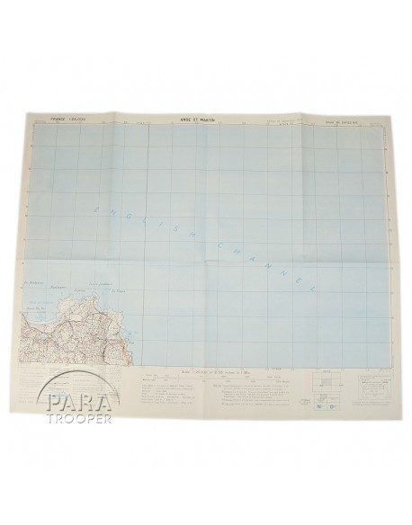 Map, US Army, Anse Saint Martin, 1943