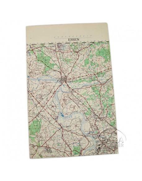 Carte de Essen, 1944, Opération Varsity, 17th Airborne
