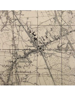 Map, US Army, Hilden, 1944