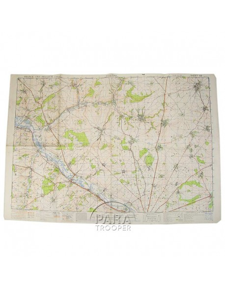 Map, British Army, Picquigny (France) 1943