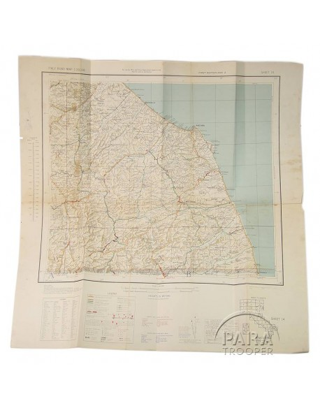 Map, US Army, Italy sheet 14, 1943, Army / Navy