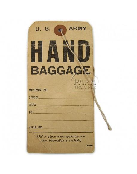 Etiquette de bagage, US Army, 1944