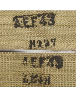 Bretelles de suspension, britannique, A.E.F, 1943