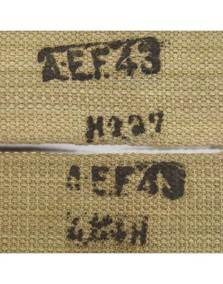 Bretelles de suspension, britanniques, A.E.F, 1943