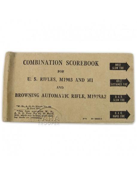 Carnet de tirs, US Army 1943