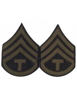 Grades en laine de Sergeant T/3