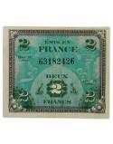 Billet d'invasion, 2 francs, 1944