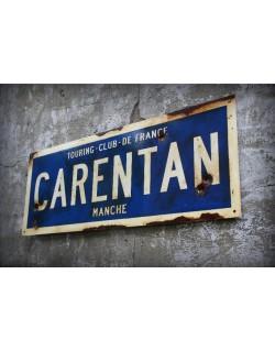 Panneau Carentan, Imprimé, 50 x 17.8 cm