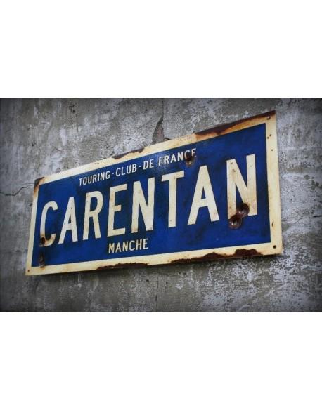 Sign, Road, Carentan, Printed, 50 x 17.8 cm