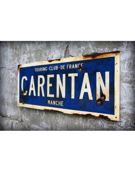 Sign, Road, Carentan, Handmade, 83.3 x 31 cm