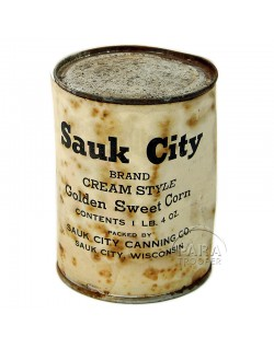 Can, ration, 10-in-1, Corn, Sauk City