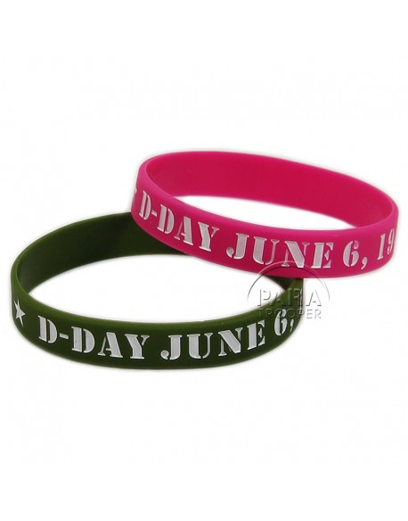 Bracelet, silicone, D-Day, June 6, 1944
