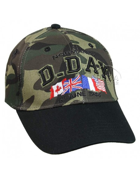 Casquette D-Day Normandy, camouflée