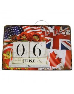 Plate, Metal, D-Day 06 June 1944