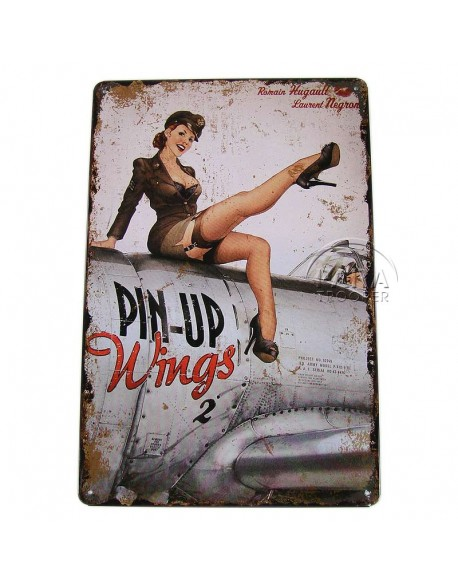 Plate, Metal, Pin-Up wings