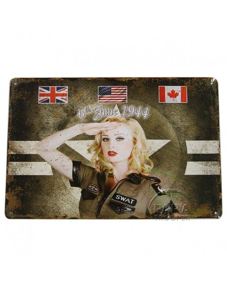 Plate, Metal, Pin-Up 6th June 1944