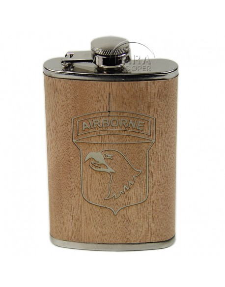 Flask, 101st Airborne, wood