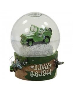 Boule à neige, D-Day, Jeep