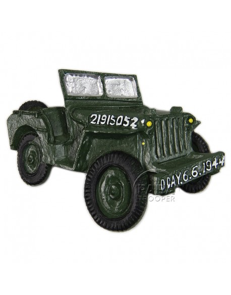 Magnet, D-Day, Jeep, résine