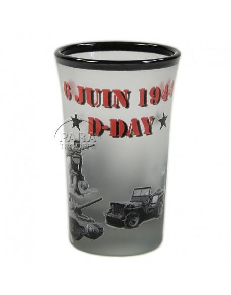 Verre à liqueur D-Day 6 juin 1944