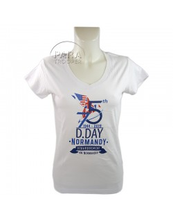 T-shirt, femme, 75e anniversaire, blanc