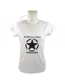T-shirt, femme, D-Day 6.6.1944