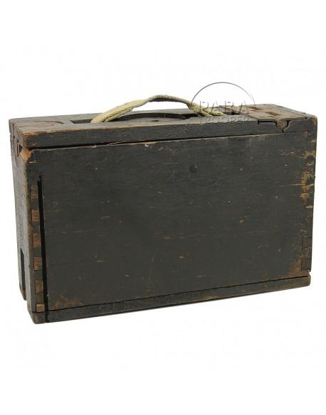 Boîte à munitions en bois, calibre .30