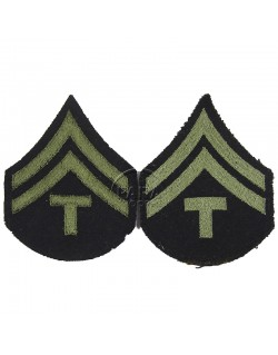 Grades en tissu de Caporal Technician T/5, vert