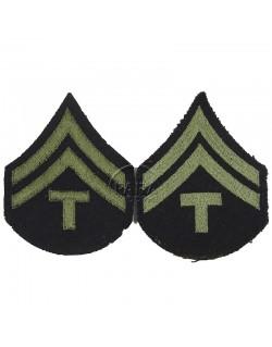 Grades en tissu de Corporal Technician T/5, vert
