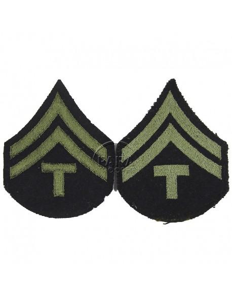 Grades en tissu de Caporal Technicien T/5, vert