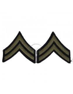 Grades en tissu de Corporal, vert