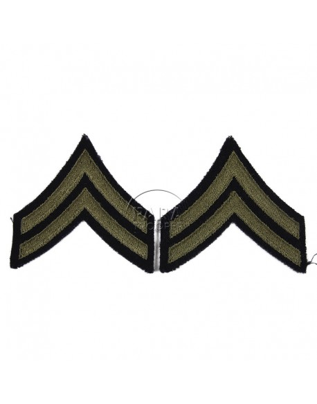 Corporal rank insignia, Green