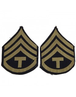 Grades en tissu de Sergeant T/3