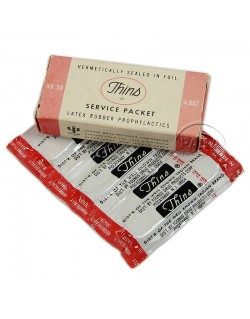 Boite de préservatifs, Thins, Service packet