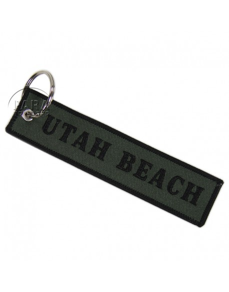 Key ring, Utah Beach, Embroidered