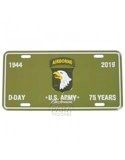 Plaque de véhicule 75e Anniversaire, 101st AB