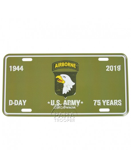75th D-Day anniversary, 101st AB, vehicle plaque