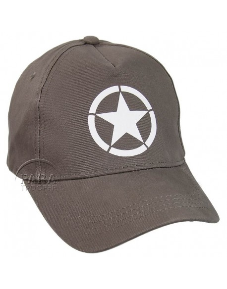 Cap, Baseball, Vintage US Army, Grey