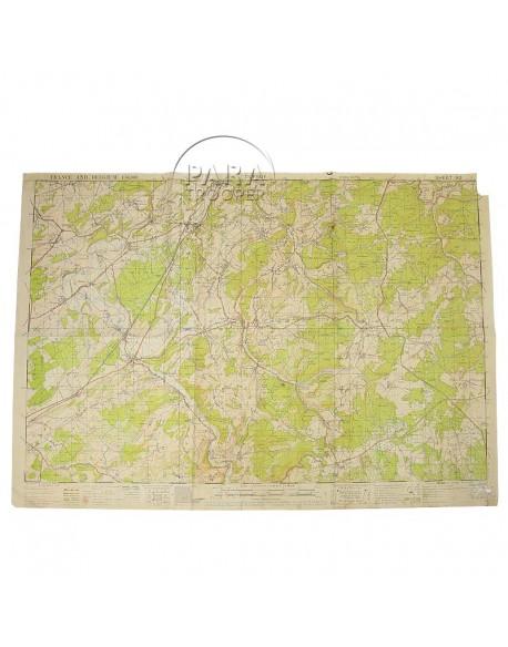 Carte de Durbuy (Belgique), 509th PRCT, 1943